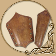 Leather Armour - Oak Bracers